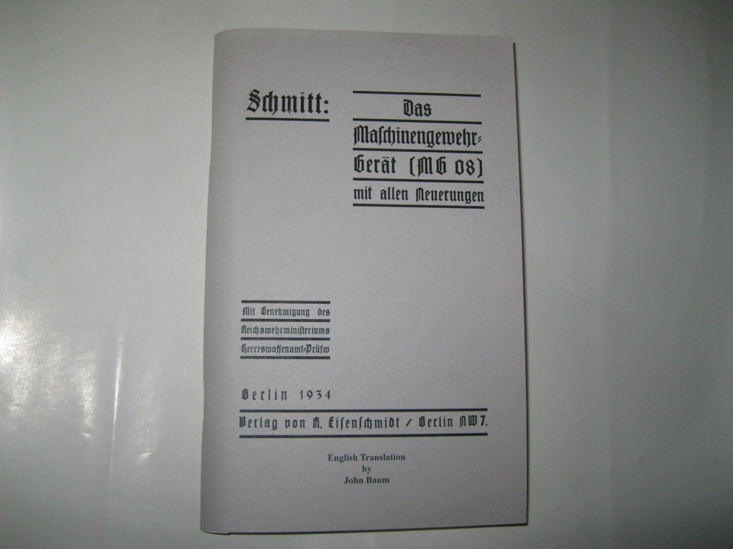 MG08 Operators Manual