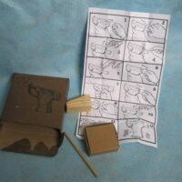 Liberator handgun reproduction box, packing materials