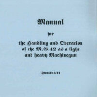 MG-42 Operators Manual Merkblatt 41/18