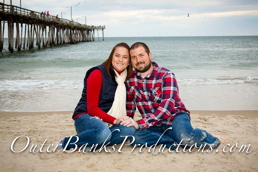 Family portrait photo in the winter with fun colors and warm clothes.