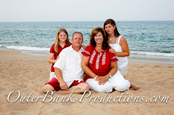 Family portrait photo with nice red color.