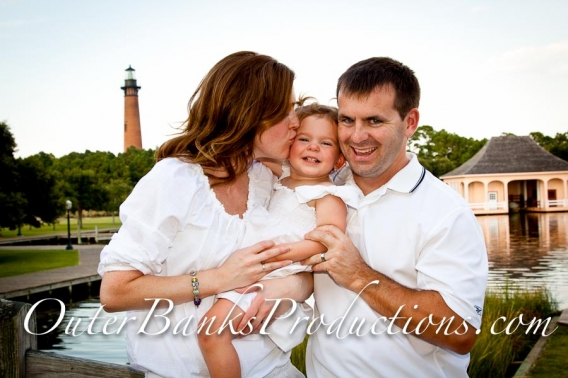 Family portrait at the Whale Head Club, all in classic white.