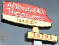 Affordable Treasures sign