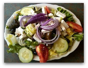 Greek Salad at Southern Kitchen Los Gatos