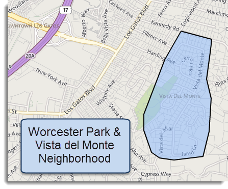 Vista del Monte neighborhood map