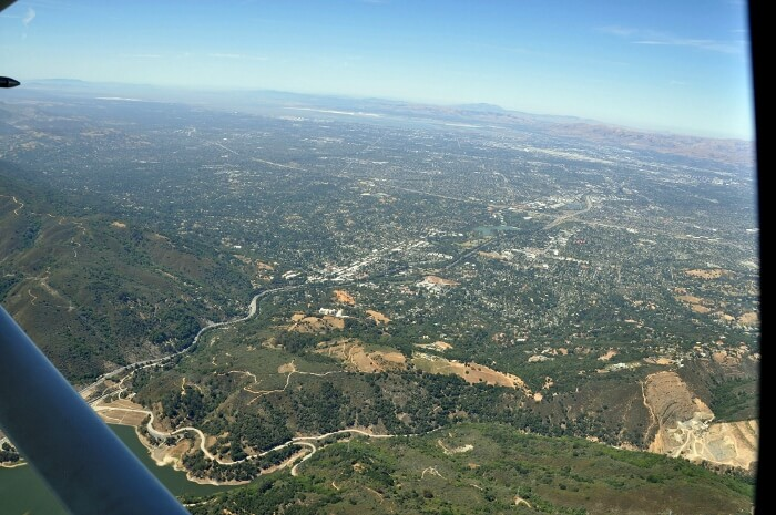View coming into Los Gatos from the Santa Cruz Mountains