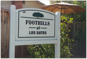 Foothills of Los Gatos sign