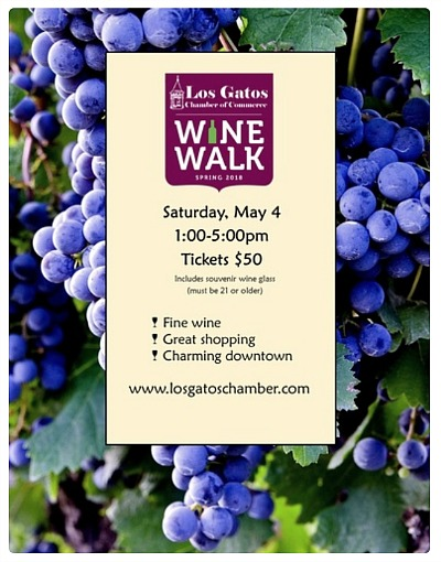 Los Gatos spring wine walk May 4 2019