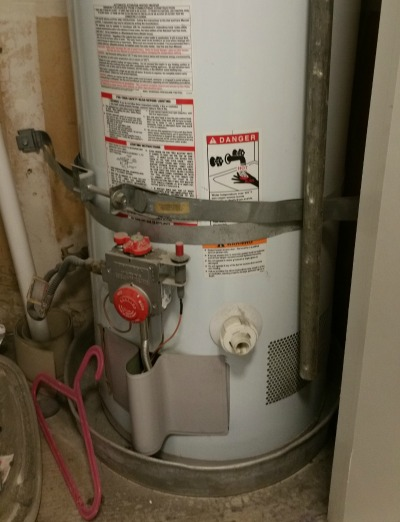 Water Heater straps too close to the controls