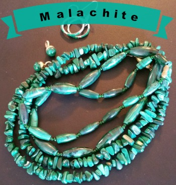 Malachite - this gem was found at Hooker Creek Mine in the Los Gatos Mountains