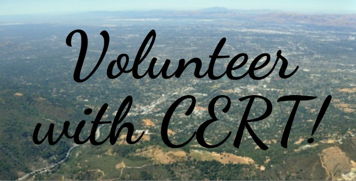 Volunteer with CERT in Los Gatos Monte Sereno