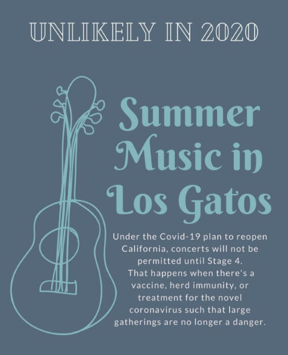 Update on the 2020 Summer Music in Los Gatos