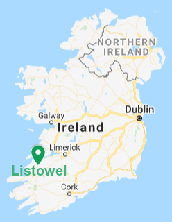 Map indicating the location of Listowel, Ireland