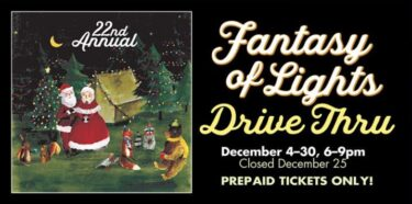 21st Annual Fantasy of Lights logo, from the SCCP holiday event page 2020