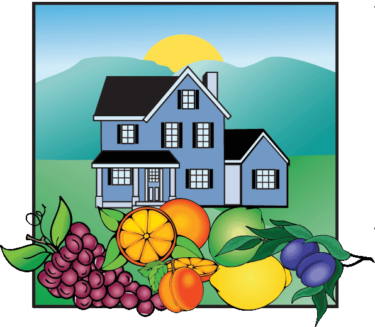 Valley of Heart's Delight logo - Mary Pope-Handy, Silicon Valley Realtor - house and Santa Clara County fruit