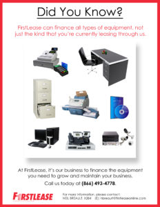 Firstlease can finance all types of equipment