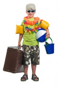 Packnig for your child on vacation