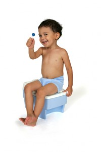 potty training rewarded child