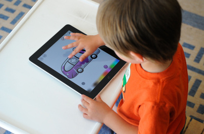 Child with iPad