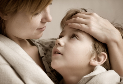 Concerned Mother With Boy