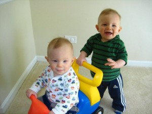 Twin Boys With Torticollis Resolved