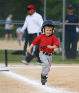 Young T-Ball Player Running