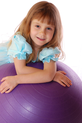 Girl With Exercise Ball