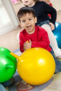 boy with yellow ball