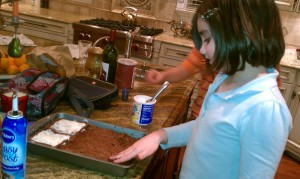 daughter baking