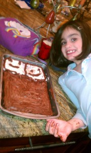 Daughter with Cake