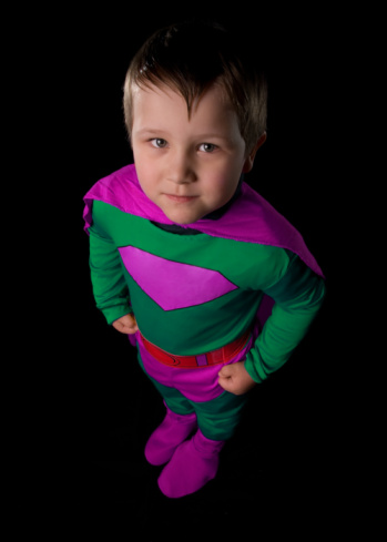 boy in cape