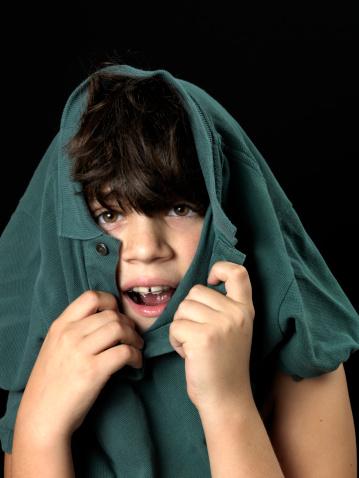 boy sensitive to clothes