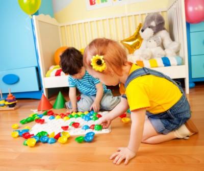 Children play household games