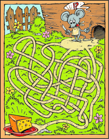 Mouse and cheese maze