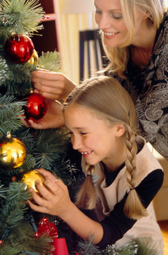stringing ornaments