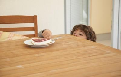 child with dessert