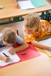 boy cheating in school