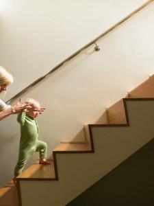 kid on stairs