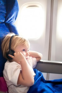 Child on plane with SPD