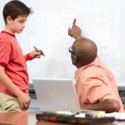 Child getting tutored