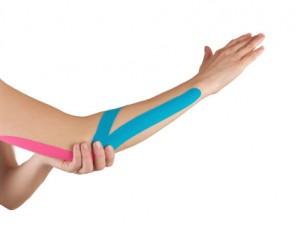 Arm with kinesiotape