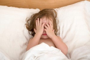 Child having trouble sleeping