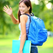Girl leaving for college