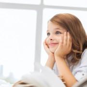 Girl thinking positively