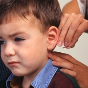 Child receiving acupuncture