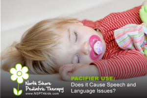 Does using a pacifier harm speech and language development?