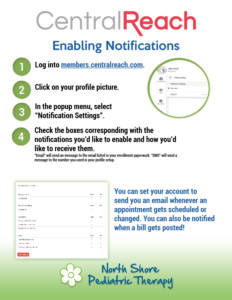 NSPT Central Reach Enabling Notification