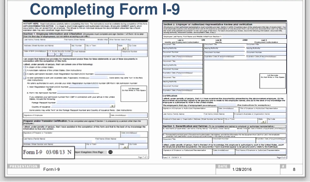 form i-9 template  Employers Must Use New I-15 Form Starting January 15, 15 ...