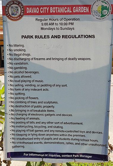 Botanical-Garden-Marfori-Heights-Davao-City-life-is-here-park-rules