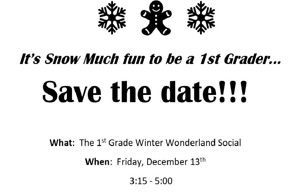 First Grade Social – Dec 13